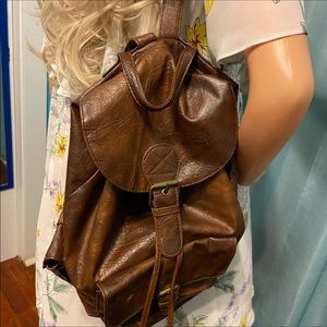Claire's leather like backpack